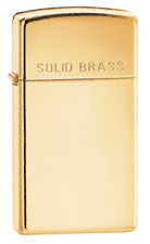 Зажигалка Zippo 1654 Slim High Polish Solid Brass