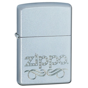 Зажигалка Zippo 24335 Scroll Satin Chrome