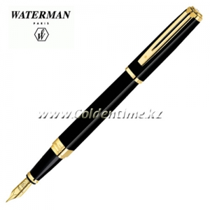 Ручка Waterman Exception Slim Black Lacqu GT S0636930