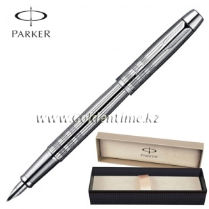 Ручка перьевая Parker 'IM' Shiny Chrome Chiselled S0908640