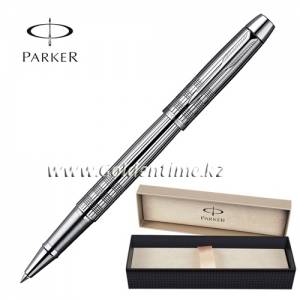 Ручка Parker 'IM' Premium Shiny Chrome Chiselled CT S0908650